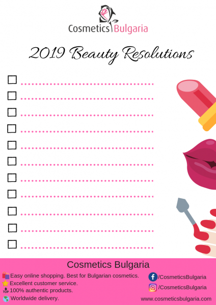 2019 Beauty Resolutions Printable
