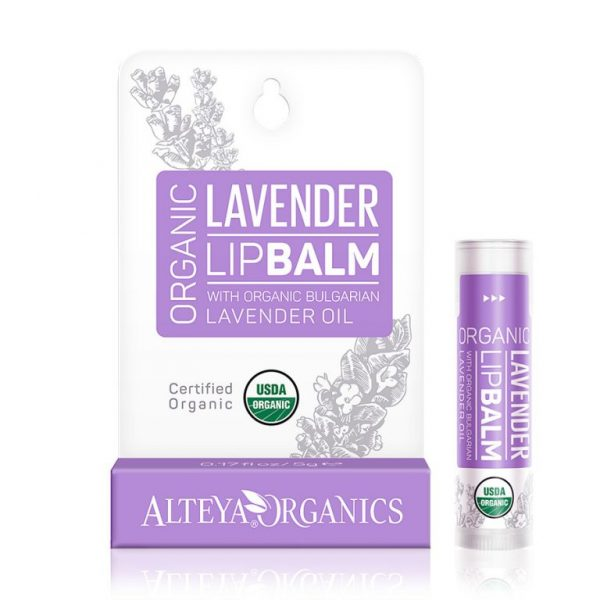 Organic Lip Balm with Lavender Essential Oil by Alteya Organics