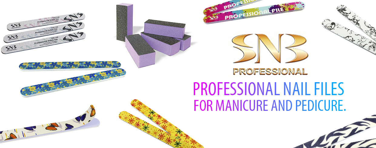 Nail files for manicure and pedicure
