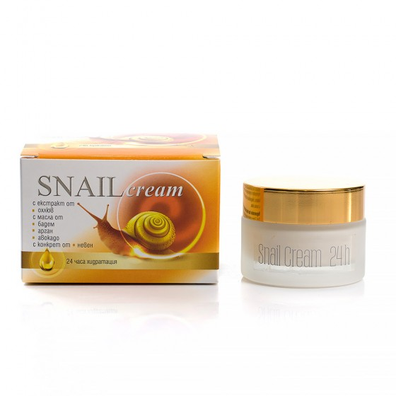 Cosmetics with garden snail extract
