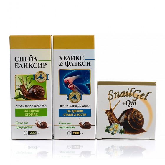 Хранителни добавки с екстракт от охлюви и билки