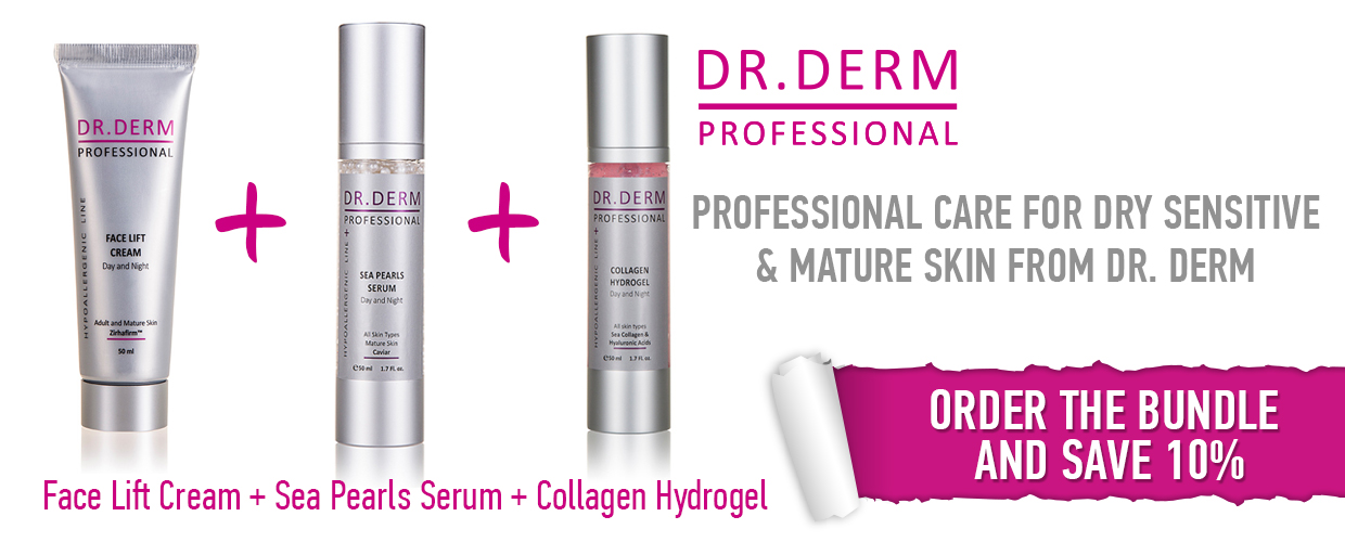 Bundle for dry, sensitive and mature skin Dr. Derm Professional
