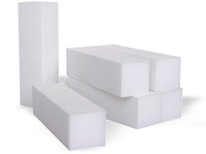 White nail polishing buffer block 200 SNB