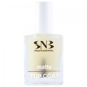 Mattifying top coat for manicure and pedicure SNB