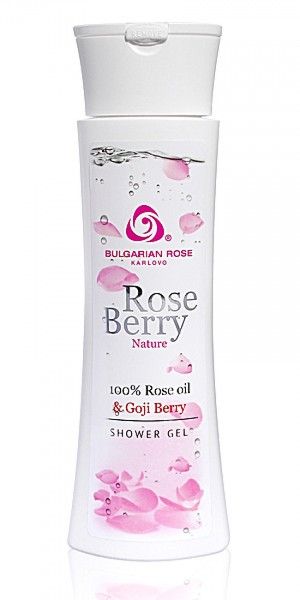 Exfoliating body shower gel Rose Berry Nature Bulgarian Rose Karlovo