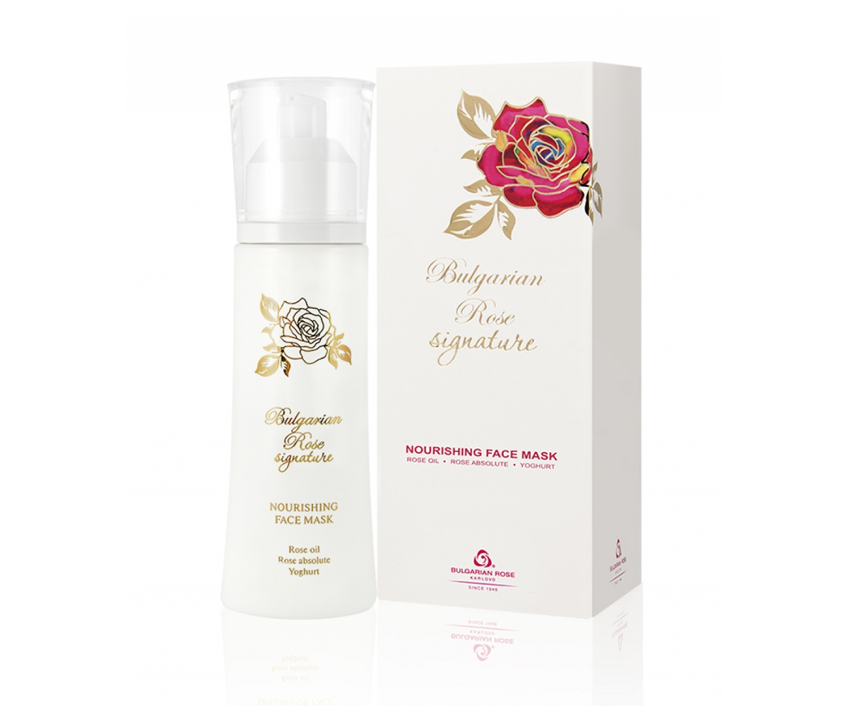 Nourishing face mask with rose oil Signature Bulgarian Rose Karlovo
