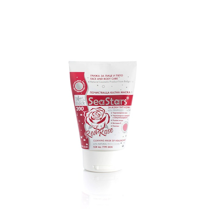 Cleansing Mud Mask for Face and Body Red Rose Sea Stars 120 ml.