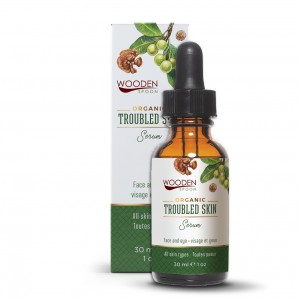 Troubled skin serum with tamanu and marula Wooden Spoon