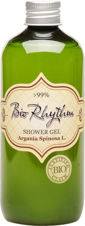 Natural shower gel with organic argan oil Biorhythm Natural Cosmetic