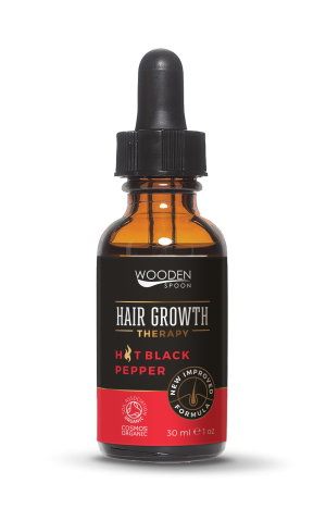 Organic hair growth serum with pepper seed oil Wooden Spoon