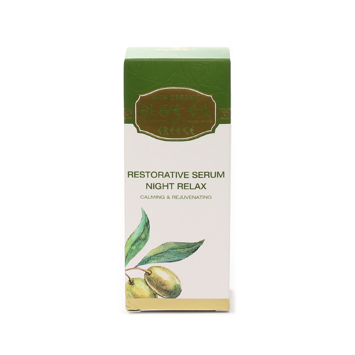 Restorative serum for face night relax Olive Oil of Greece Biofresh