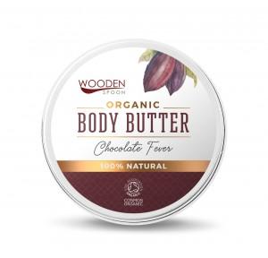 Organic Cocoa Body Butter Cream Chocolate Fever Wooden Spoon