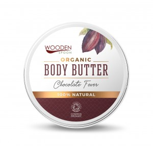 Organic Cocoa Body Butter Cream Chocolate Fever Wooden Spoon