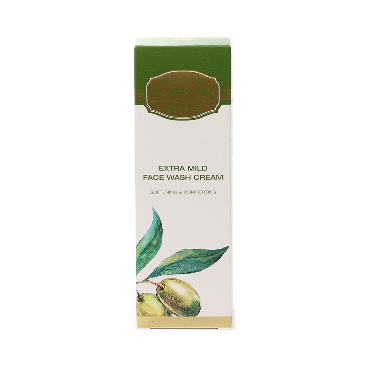 Extra mild face wash cream Olive Oil of Greece Biofresh