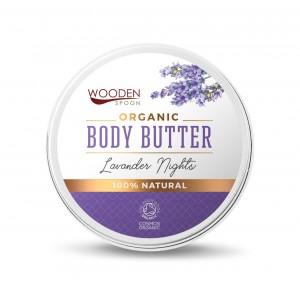 Organic body butter cream Lavender Nights Wooden Spoon