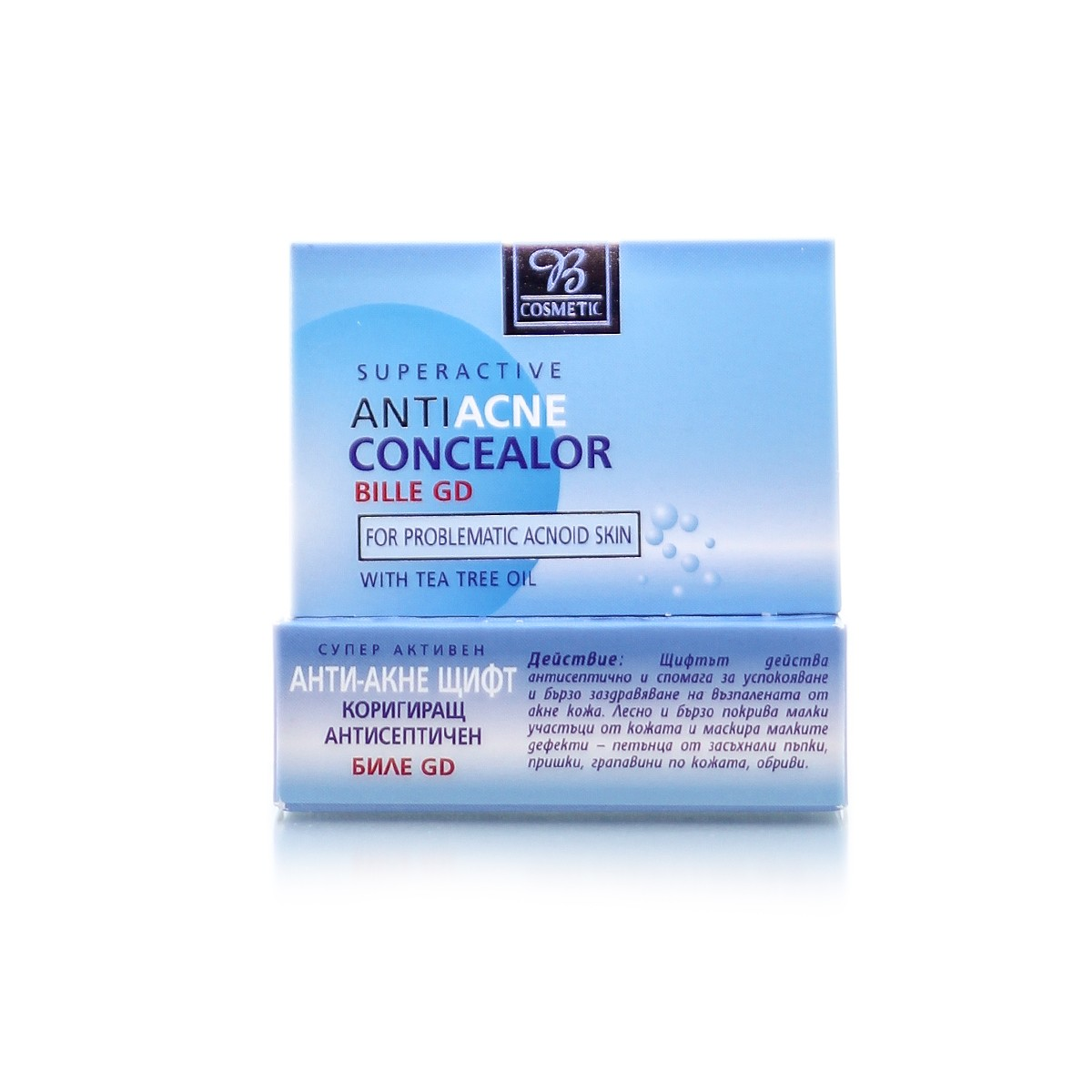Anti-inflammatory concealor for face against acne AntiAcne Bodi Beauty