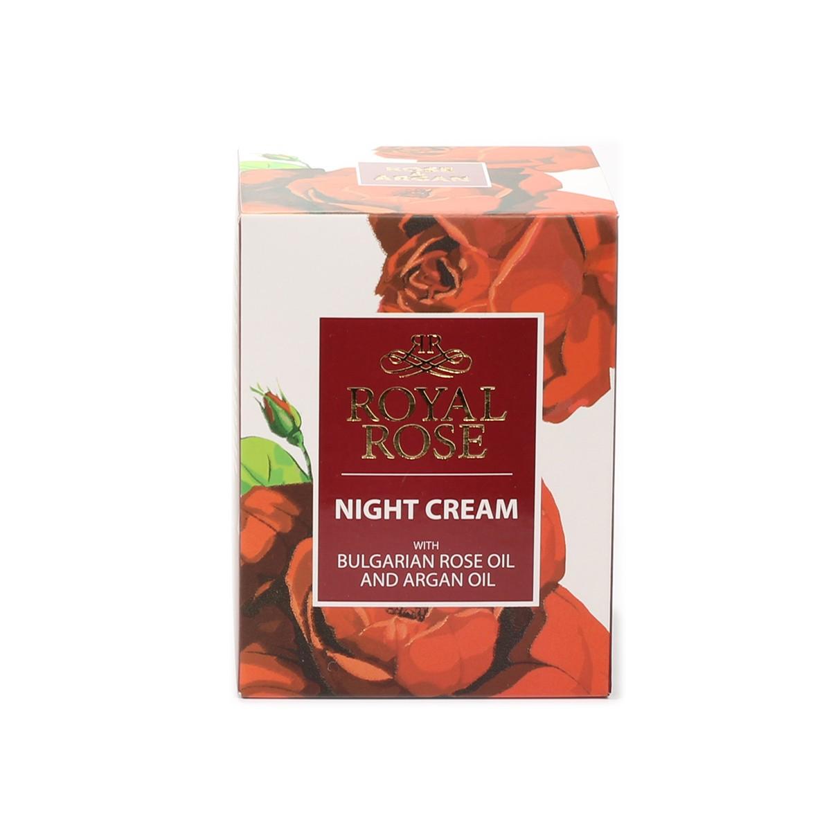 Нощен крем за лице с розово масло Royal Rose Biofresh