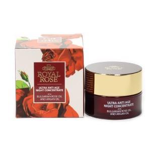 Нощен крем за лице концентрат Royal Rose Biofresh
