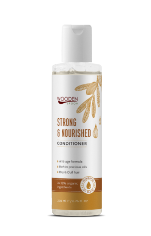 Dry hair conditioner Strong & Nourished Wooden Spoon