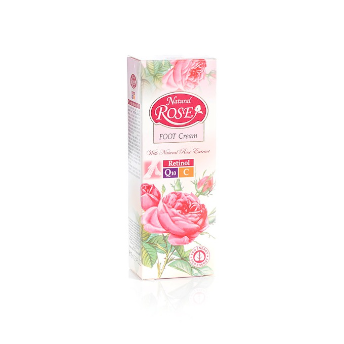 Anti-age regenerating foot cream with Q10 Natural Rose Arsy Cosmetics