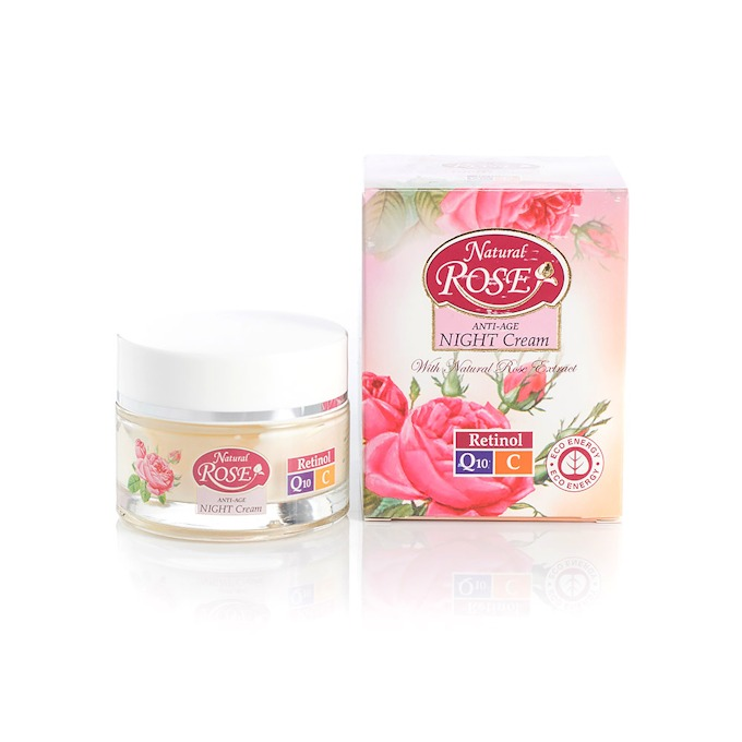 Night face cream with Q10 Natural Rose Arsy Cosmetics