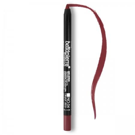 Waterproof mineral lip gel liner Truly Red 004 Bellapierre Cosmetics