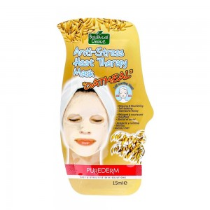 Anti-stress heat therapy face mask with oatmeal Purederm