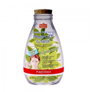 Deep cleansing peel-off face mask with green tea extract Purederm