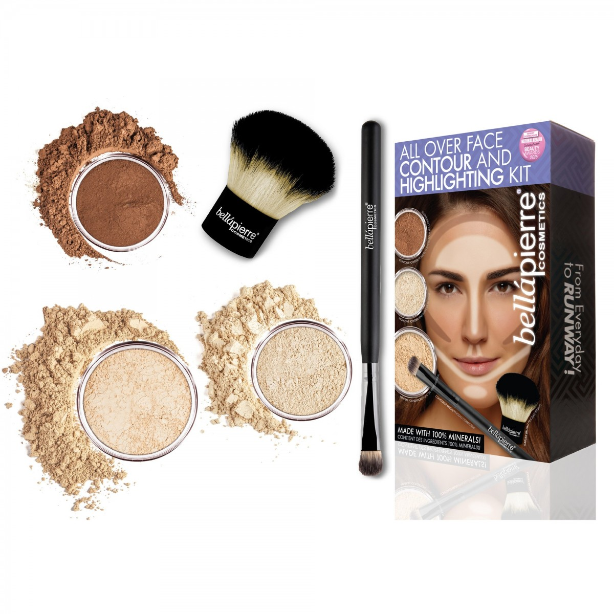 All over face contour and highlighting kit Fair Bellapierre Cosmetics