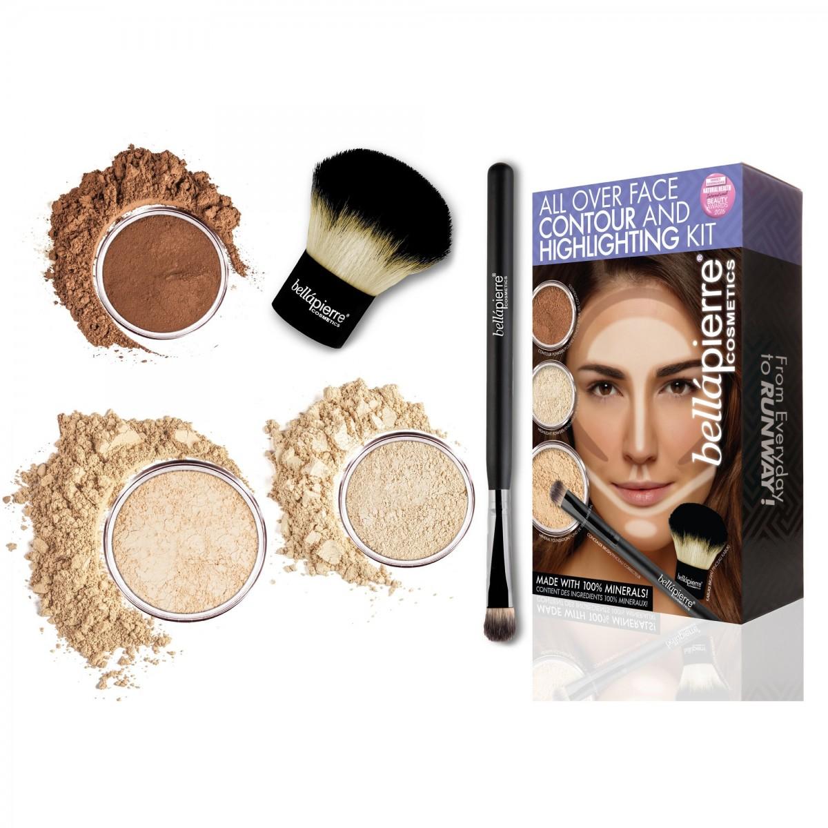 Контуриращ комплект за лице Fair Highlight and Contour Bellapierre Cosmetics