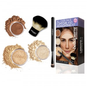 All over face contour and highlighting kit Medium Bellapierre Cosmetics