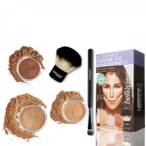 All over face contour and highlighting kit Dark Bellapierre Cosmetics