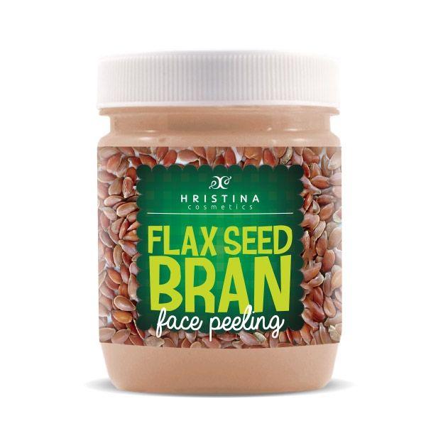 Face scrub with flax seed Hristina Cosmetics