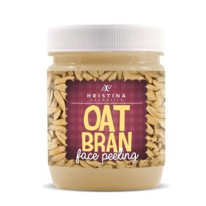 Face scrub with oat bran Hristina Cosmetics