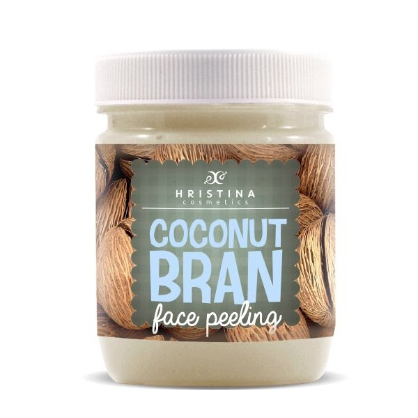Face scrub with coconut Hristina Cosmetics