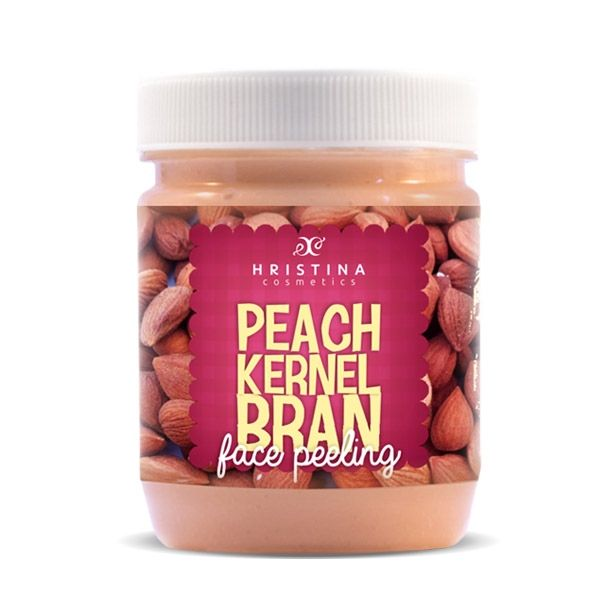 Face scrub with peach seeds Hristina Cosmetics