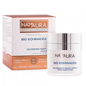 Подхранващ нощен крем за лице и околоочен контур Nat'Aura 20+ Biofresh