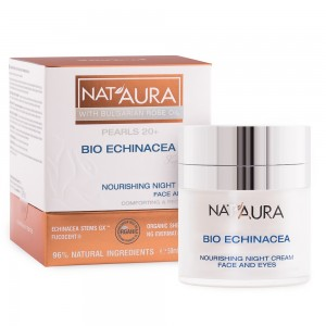 Nourishing night cream for face and eye contour Nat'Aura 20+ Biofresh