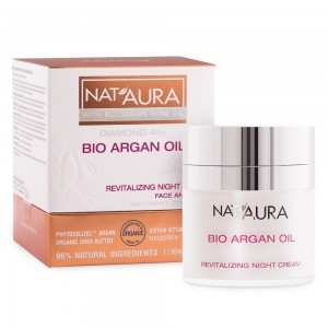 Revitalizing night cream for face Nat'Aura Diamond 45+ Biofresh