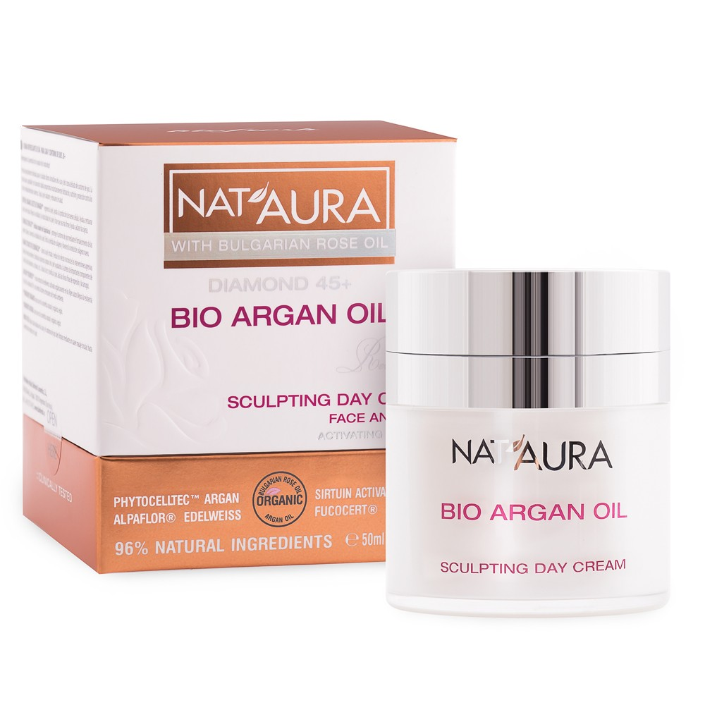 Стягащ дневен крем за лице Nat'Aura Diamond 45+ Biofresh