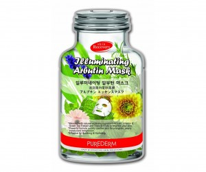 Skin illuminating arbutin face mask Purederm