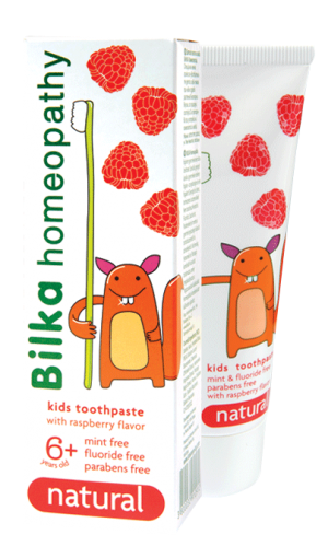 Kids gel toothpaste Bilka Homeopathy NATURAL 6+