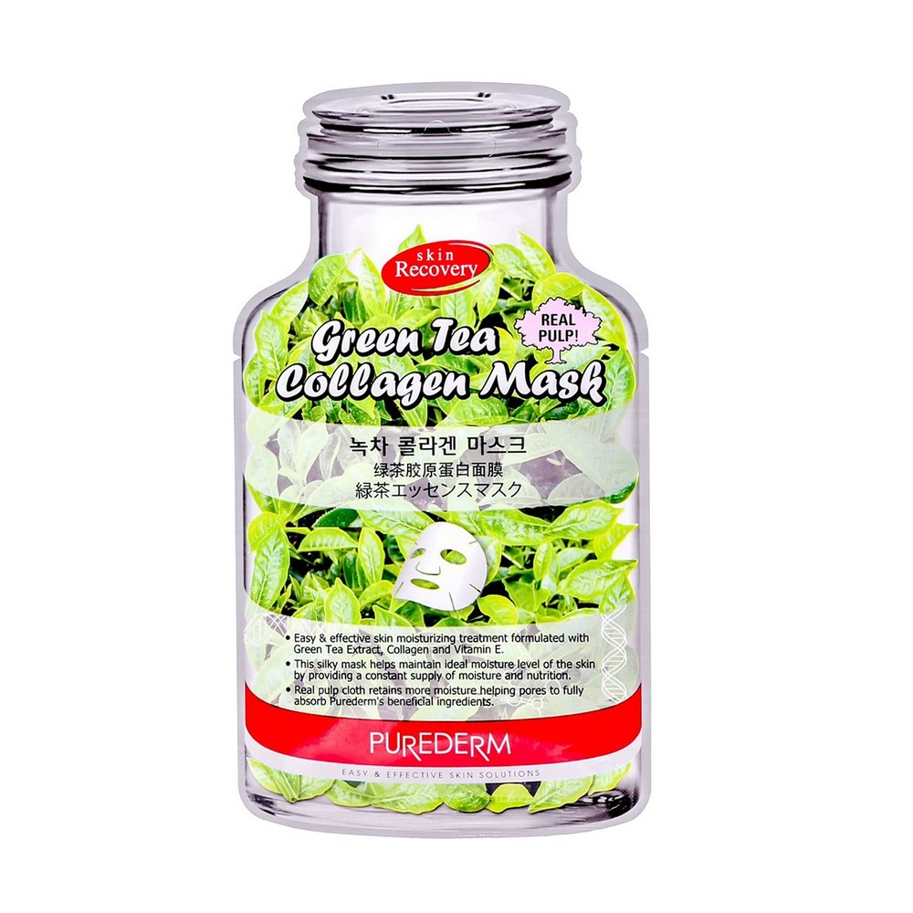 Collagen face mask with green tea extract and vitamin E Purederm