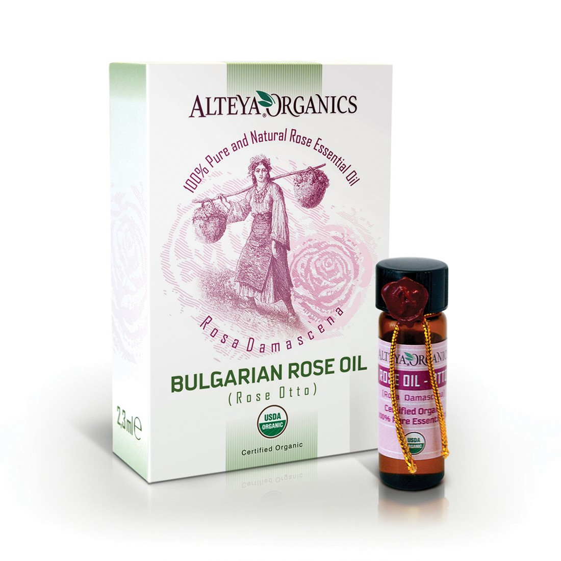 Bio organic Bulgarian rose oil 2,3 ml. Alteya Organics