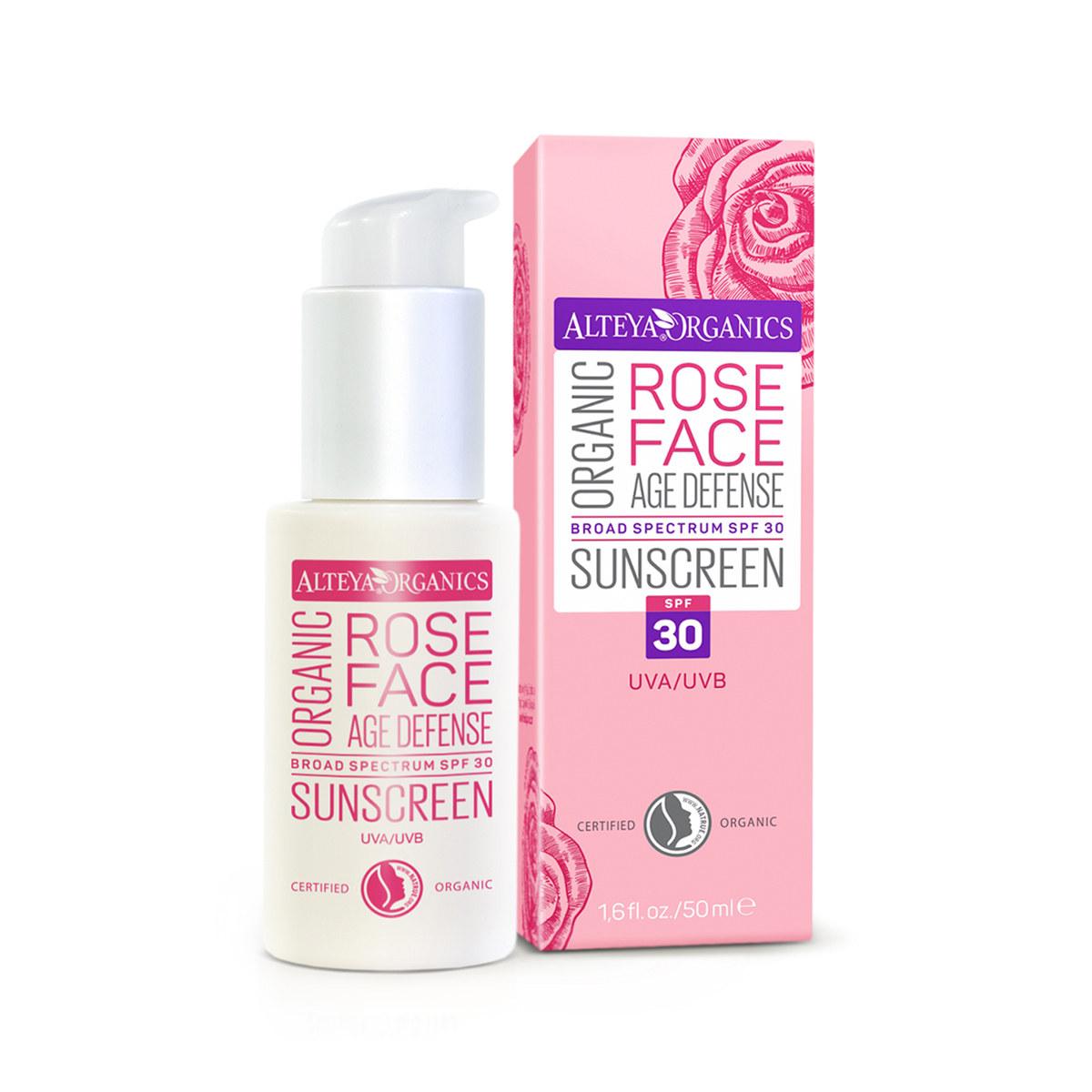Bio organic sun protection face cream with SPF30 Alteya Organics