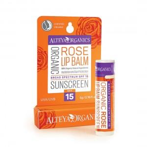 Bio organic sunprotection lip balm SPF 15 Alteya Organics
