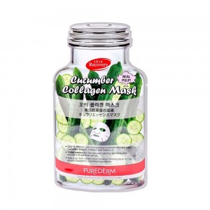 Collagen face mask with cucumber extract Purederm