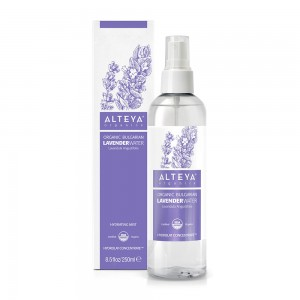 Bio organic Bulgarian lavender water 250 ml. with spray Alteya Organics