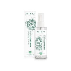 Bio organic rose water from white rosa Alba Alteya Organics