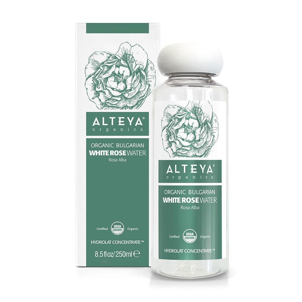 Bio organic rose water from white rosa Alba Alteya Organics 250 ml.